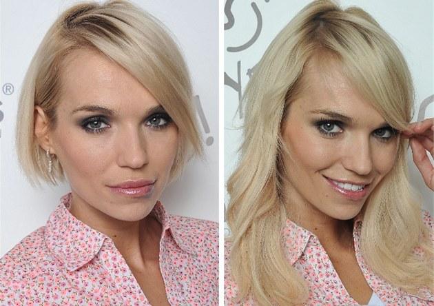 Modelka Hana Ma�líková vyu�ila moderních technologií a prodlou�ila si vlasy
