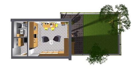 Zařízení bytu 1+kk pro mladý pár