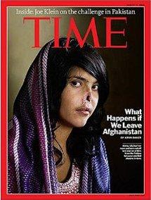 Zohavená Aisha na obalu časopisu Time
