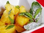 Ananas s drceným mátovým cukrem