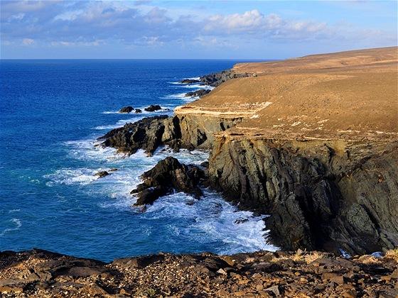 Aguas Verdes, pohled na pobřežní útesy