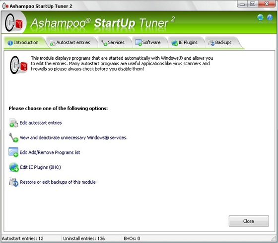 Ashampoo StartUp Tuner 2