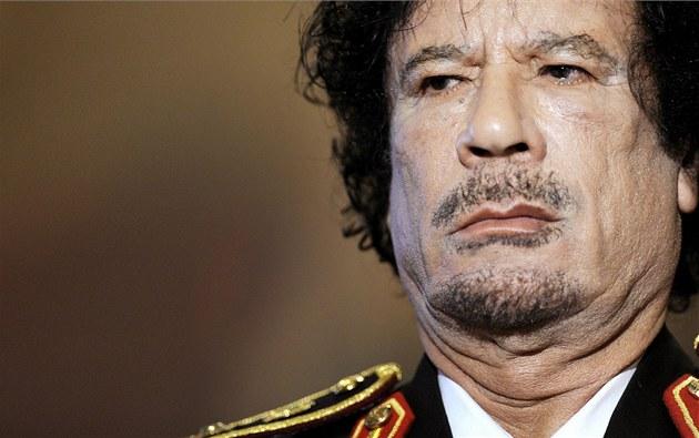 Libyjský v�dce Muammar Kaddáfí.