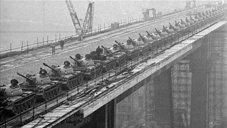 Zatěžkávací zkouška Nuselského mostu, 24. 11. 1970