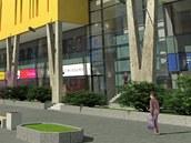 Finální návrh obchodního centra Aréna v Plzni