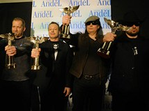 Anděl 2011: Interpret dvacetiletí, skupina Lucie (zleva David Koller, Michal Dvořák, P.B.Ch., Robert Kodym)