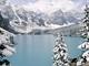 Kanada, Alberta, ledovcové jezero Moraine Lake v národním parku Banff