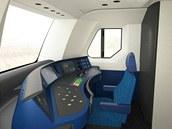 Počítačová vizualizace kabiny strojvedoucího