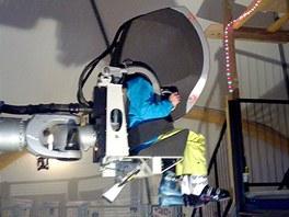 Lavinový simulátor ve francouzském superstředisku Les2Alpes.
