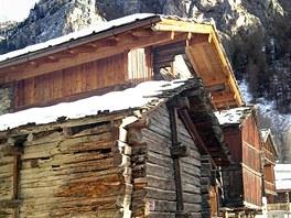 Ve švýcarské historické vesničce Héremence jsou stavení ze 17.století.