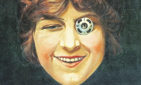 Slavný obraz Františka Kupky Dívka s patentkou.