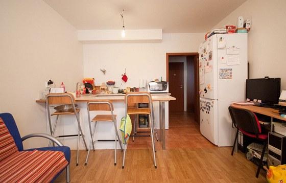 Původní podoba pokoje, který sloužil jako kuchyň, jídelna i obývák.
