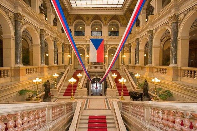 Výzdoba hlavní budovy Národního muzea.