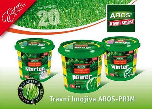 Travní hnojiva AROS-PRIM v 8,5 kg plastových vědrech