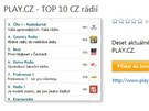 PLAY.CZ - TOP 10 CZ rádií