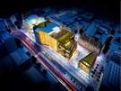 Královský ostrov v Lucemburku. Mezinárodní pověst města má zlepšit multifunkční komplex přímo v centru, na jehož podobě se podíleli architekti ze špičkové kanceláře Foster & Partners.