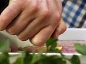 Filety v zapékací misce polijte olivovým olejem.
