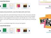 Google Wedding - výběr z několika šablon