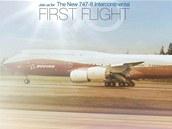 První let nového Boeingu 747-8 Intercontinental