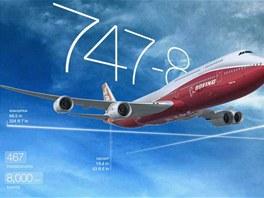 Rozměry a kapacita letadla Boeing 747-8 Intercontinental