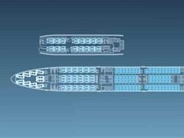 Rozložení sedadel v letadle Boeing 747-8 Intercontinental