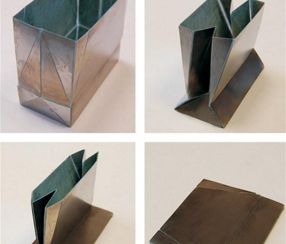 Prototyp ocelové skládací nákupní tašky