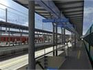 Plánovaný vzhled druhého a dalších nástupišť po rekonstrukci olomouckého hlavního nádraží.