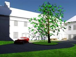 Studenti brněnského VUT navrhli několik variant budoucího využití zámku v Brtnici (návrh Pavla Hotaře).