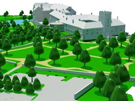 Studenti brněnského VUT navrhli několik variant budoucího využití zámku v Brtnici (návrh Radima Mazálka).