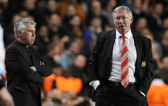 SATISFAKCE. Penalta byla jasná, tvrdí Carlo Ancelotti (vlevo). Provinile se necítím, říká Alex Ferguson.