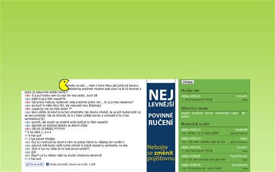 Lamer.cz překvapil opravdu pěknou animací legendárního PacMana, který postupně užíral stránku