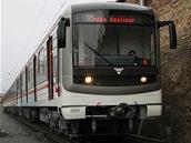 Předávka modernizované soupravy v Plzni.