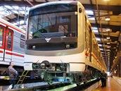 Předávka modernizované soupravy ve Zličíně.