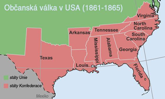 Občanská válka v USA (1861 - 1865)