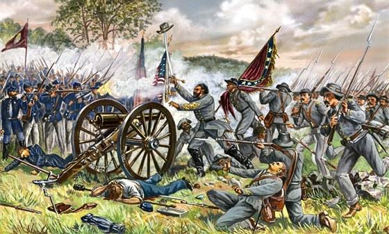 Ilustrace bitvy u Gettysburgu
