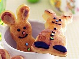 Velikonoční zajíčci.