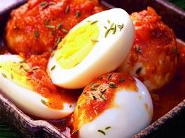 Indická vejce v pikantní omáčce.
