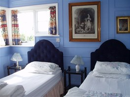 Pohled do modrého pokoje