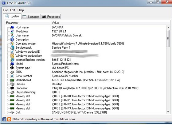 Free PC Audit 2.0