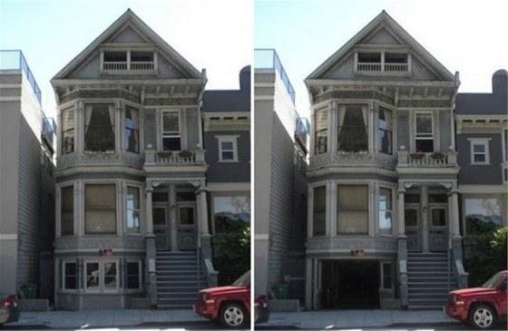Garáž ve starém viktoriánském domě je dokonale schovaná. Vejdou se do ní čtyři auta.