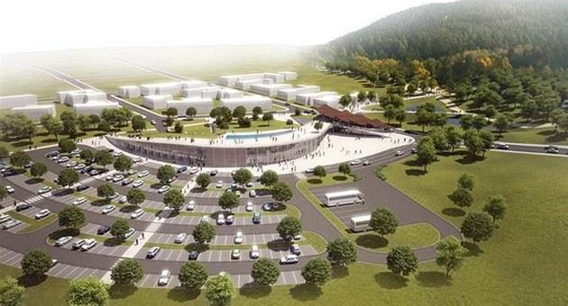 Vizualizace nového vstupního areálu brněnské zoo