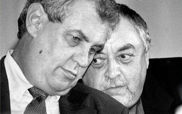 Milo� Zeman a Egon Lánský (9. dubna 1999)