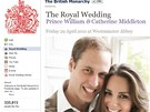 Královská svatba na Facebooku