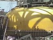 Odhalený kontejnment I. reaktoru ve fukušimské jaderné elektrárně