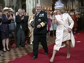 Dvojníci prince Charlese a jeho ženy Camilly v reklamě od britského T-Mobile