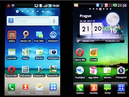 Displej Samsungu Galaxy S a LG Optimus 2X