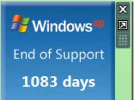 Windows XP End Of Support Countdown Gadget