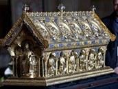 Relikvi�� svat�ho Maura je zp�tky na z�mku v Be�ov� nad Teplou.