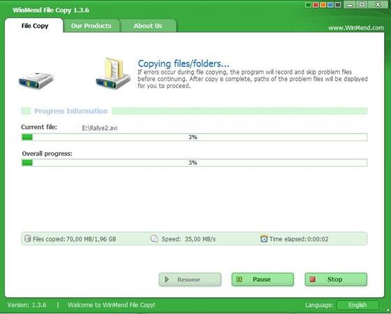 WinMend File Copy 1.3