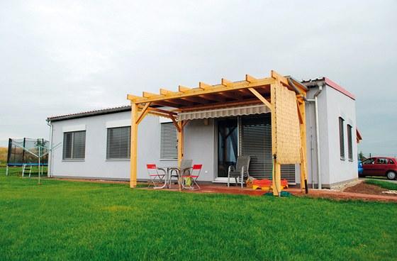 Montovaná dřevostavba v Českém Brodě, užitná plocha 96,8 m2, autor návrhu Karon, s. r. o.